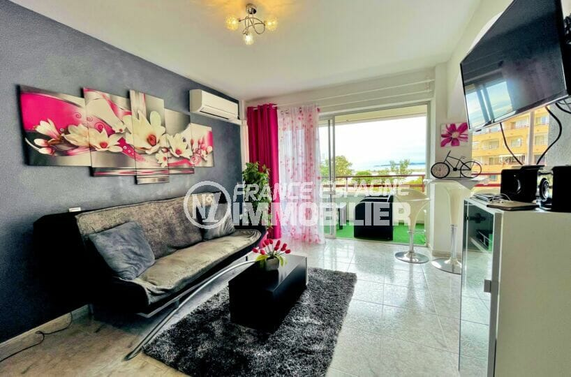 achat appartement rosas, 2 pièces 59 m², salon lumineux, exposition sud