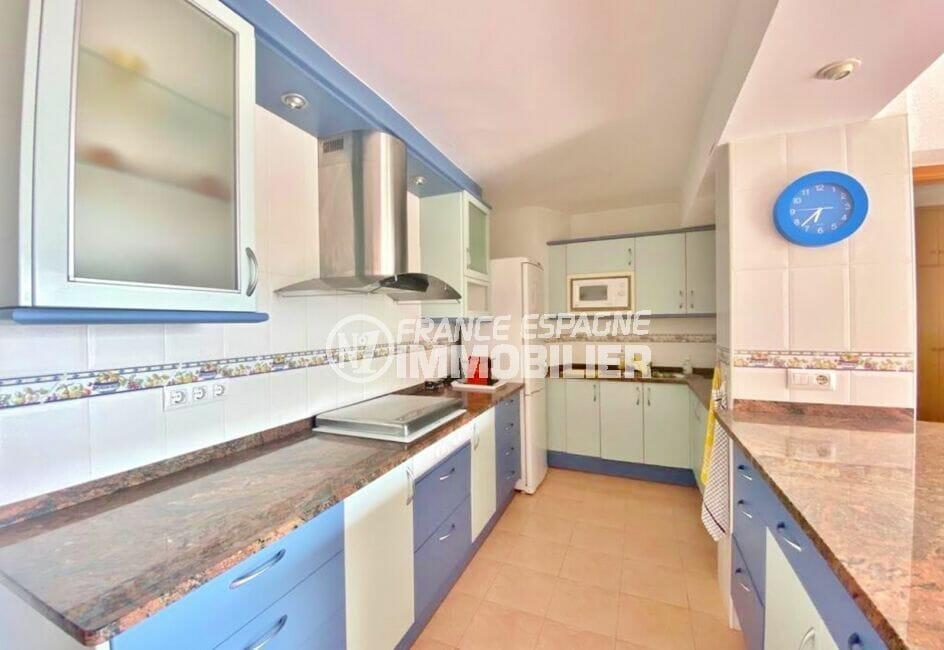 appartement à vendre rosas, 2 pièces 62 m², cuisine américaine aménagée et équipée