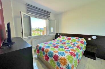 appartement à vendre empuriabrava, 2 pièces 42 m² atico vue mer, chambre avec lit double