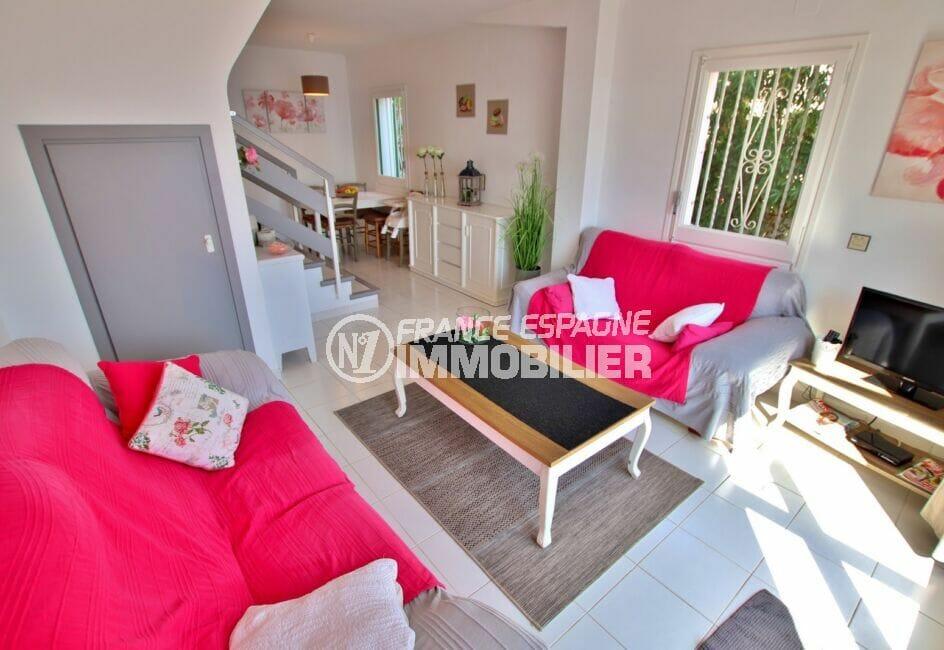 achat villa costa brava, 2 chambres 62m², salon / salle à manger, cuisine américaine
