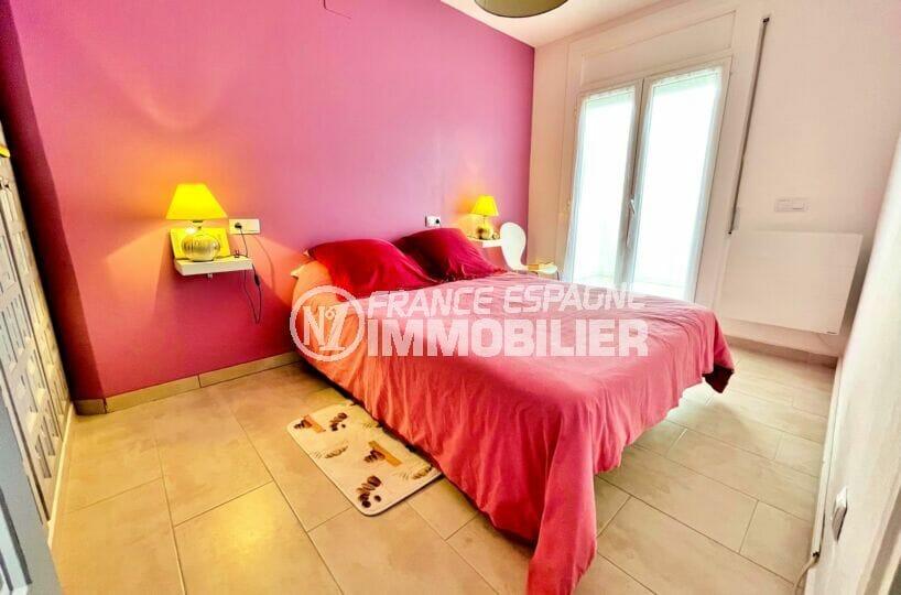 vente maison rosas espagne, 2 chambres 71m², 1°chambre à coucher avec accès terrasse