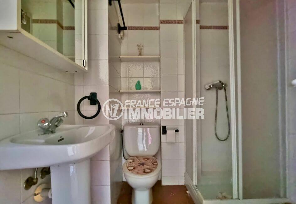 appartement à vendre à rosas espagne, 3 pièces 58 m², salle d'eau avec douche et wc