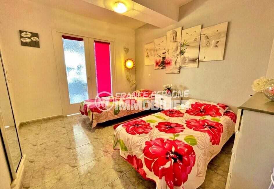 appartement a vendre rosas espagne, 2 pièces 59 m², chambre à coucher, 2 lits simples