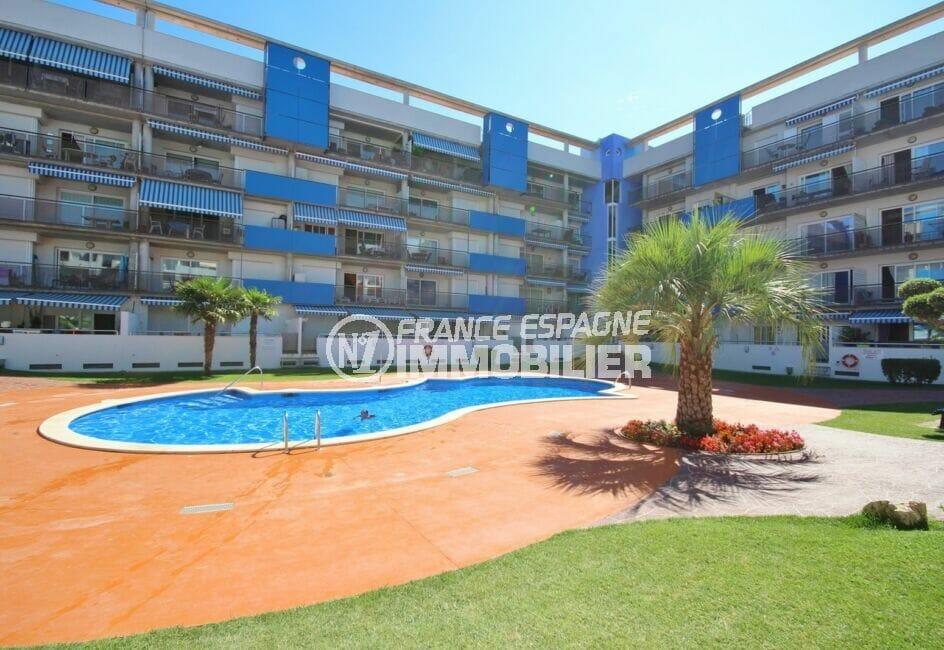 appartement a vendre costa brava prix casse, 2 pièces 56 m² avec piscine en commun