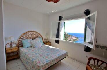 achat immobilier espagne costa brava: villa 2 chambres 62m², chambre avec vue mer imprenable