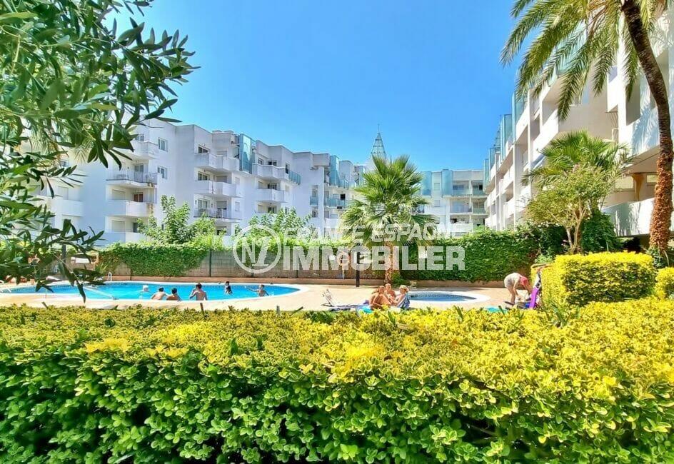 appartement à vendre rosas, 3 pièces 58 m², résidence sécurisée avec belle piscine