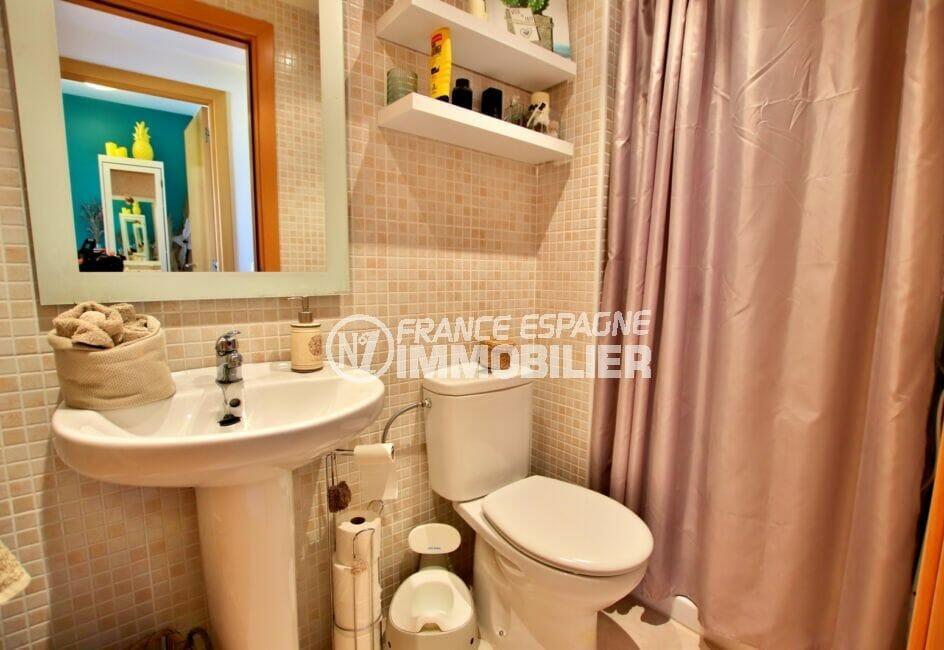 immocenter empuriabrava: appartement ref.4245, seconde salle d'eau avec wc