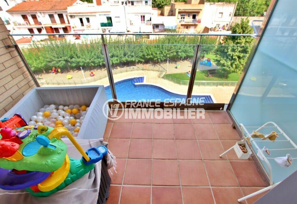 empuriabrava for sale: appartement 2 chambres 71 m², balcon de la seconde chambre