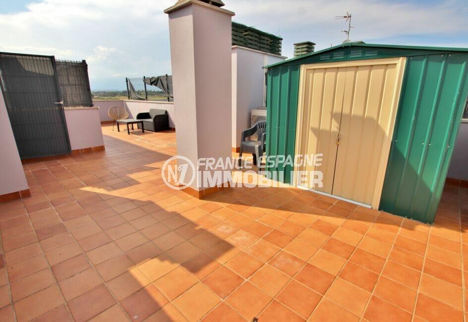 la costa brava: appartement2 chambres 71 m², terrasse solarium de 53 m²