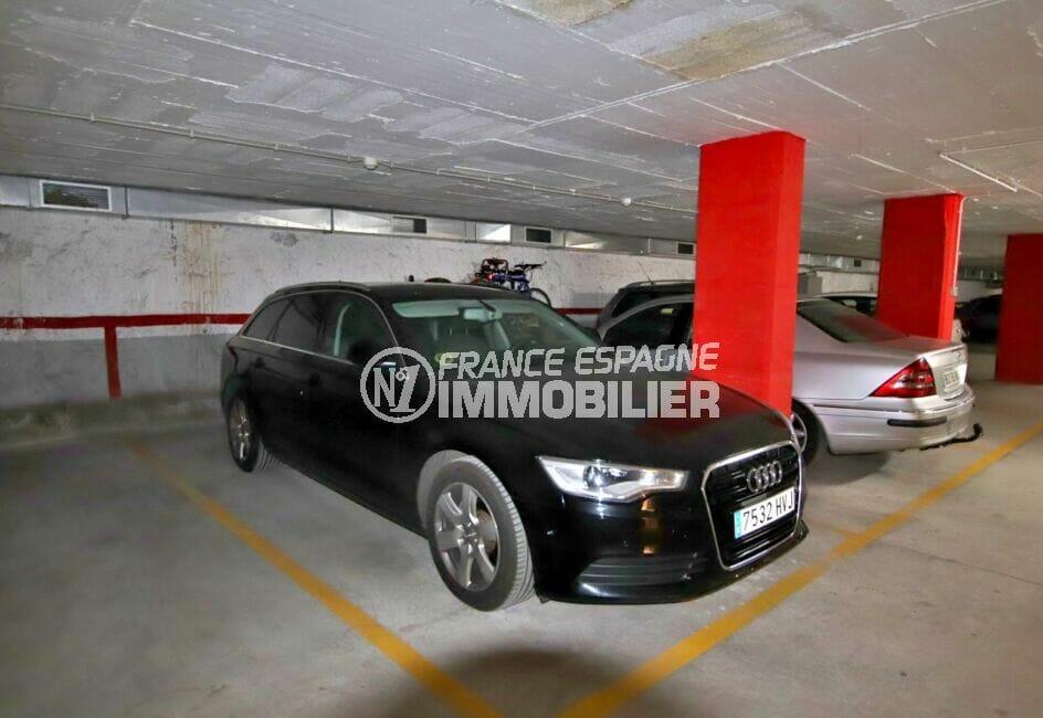 costabrava immo: appartement 2 chambres 71 m², parking privé en sous sol