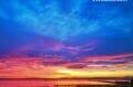 la plage de roses sur la costa brava, magnifique coucher de soleil