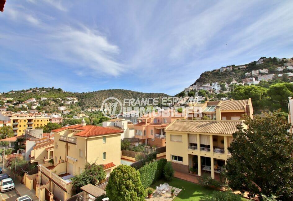 vente appartement rosas, 2 pièces 50 m², vue de la terrasse sur roses et ses alentours