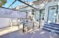 maison a vendre empuria brava, 2 chambres 52 m², terrasse équipée table, chaises et rangements