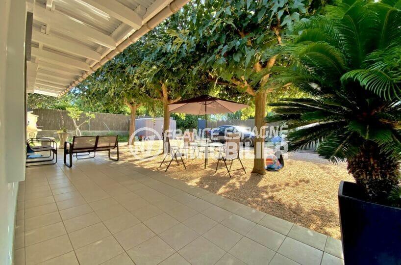 rosas immo: villa 80 m² sur terrain 390 m², grande terrasse avec ensemble jardin