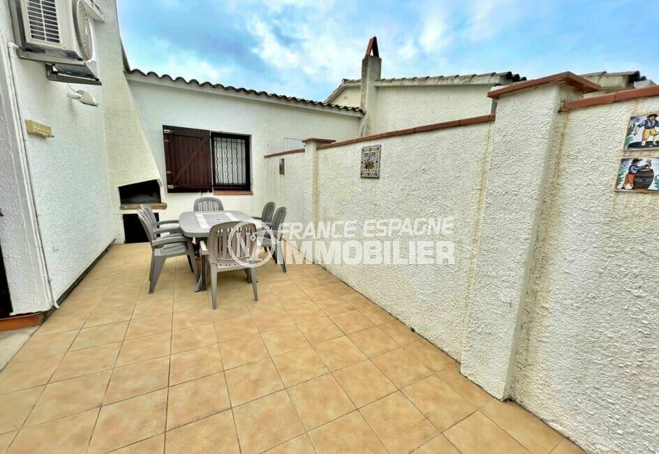 maison a vendre empuria brava, 3 chambres 46 m², belle terrasse avec barbecue