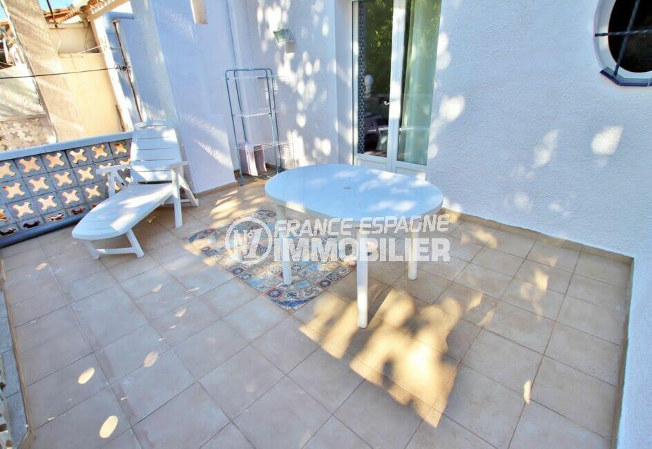 maison à vendre empuriabrava, 2 chambres 52 m², chambre à coucher avec terrasse