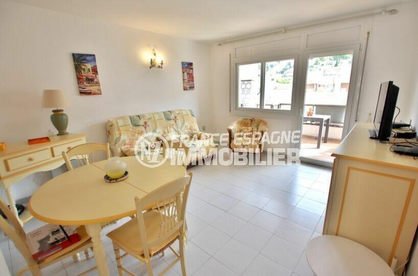 acheter appartement costa brava, 2 pièces 50 m², salon / salle à manger avec terrasse