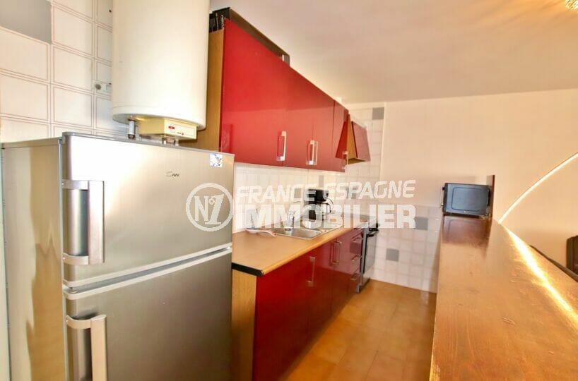 appartements a vendre a rosas, 2 pièces 49 m², cuisine équipée de plaques, four, hotte