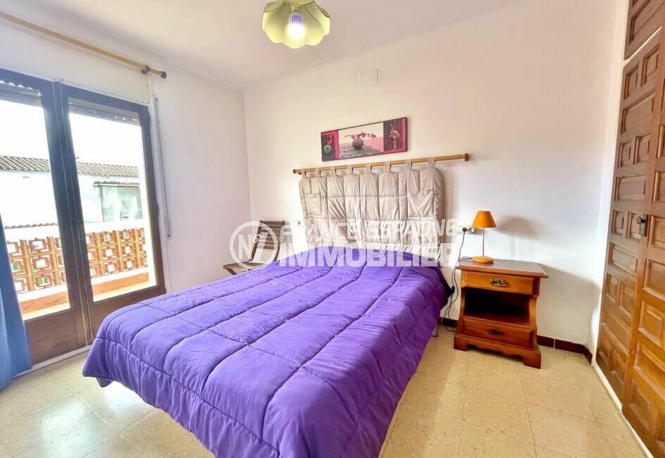 achat maison empuriabrava, 2 chambres 76 m², chambre avec accès à la terrasse