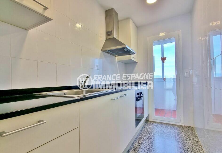 appartement à vendre à rosas, 2 chambres 63 m², cuisine indépendante aménagée et équipée