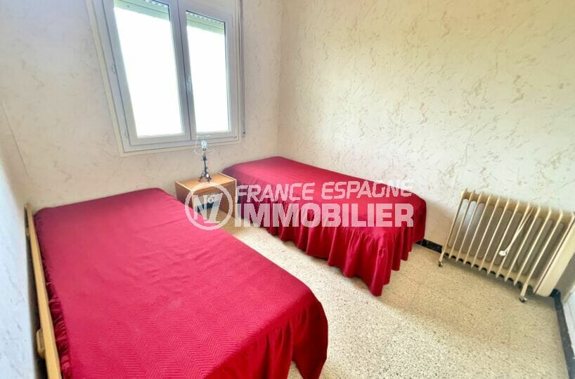 appartement a vendre roses, 2 chambres 66 m², 2° chambre avec 2 lits simples