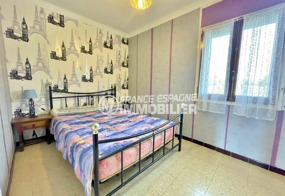 maison a vendre a empuriabrava, 2 chambres 76 m², chambre à coucher lumineuse avec lit double