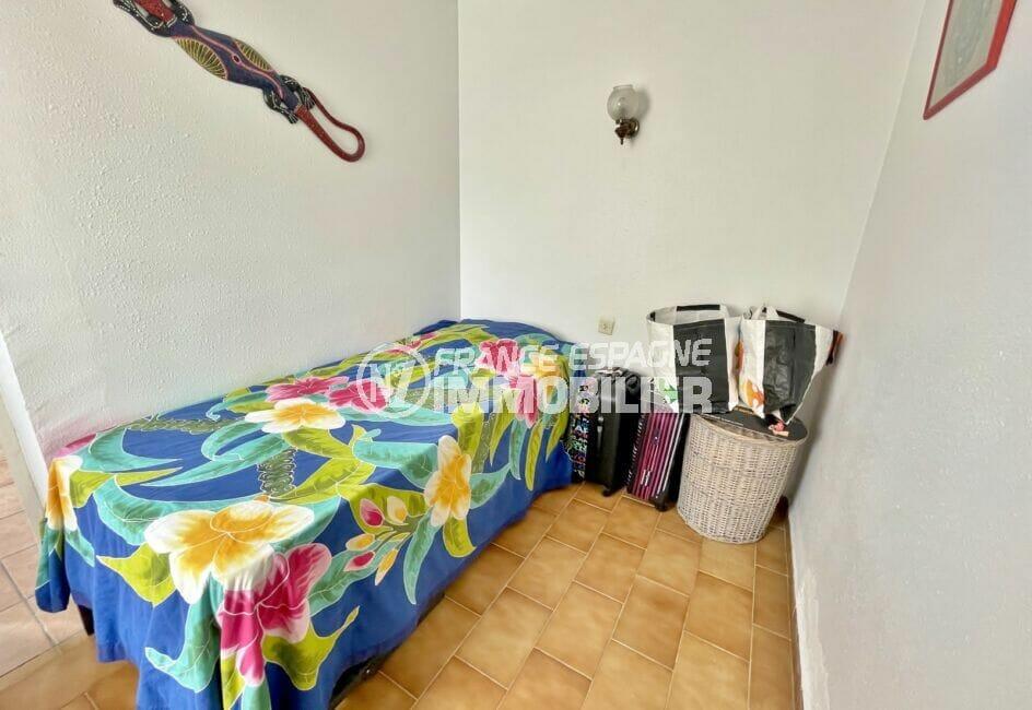 vente empuriabrava: villa 3 chambres 46 m², 3° chambre à coucher, lit simple