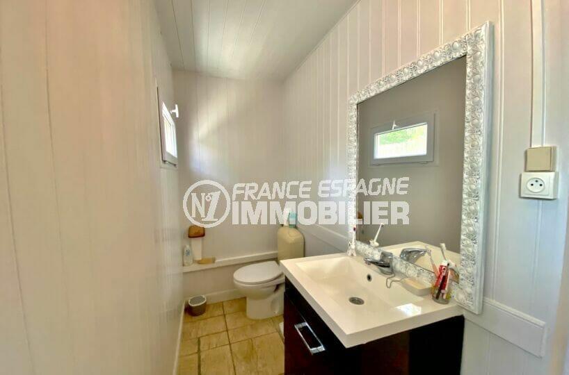 immocenter roses: villa 80 m² sur terrain 390 m², salle d'eau avec wc