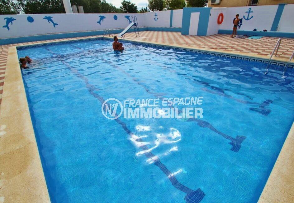 acheter en espagne: villa 2 chambres 52 m², piscine communautaire cloisonnée par un mur
