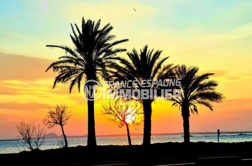 coucher de soleil estival sur la plage de rosas santa margarita